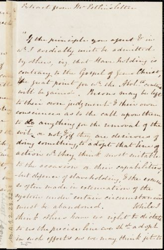 Extract of a letter from J. B. Estlin