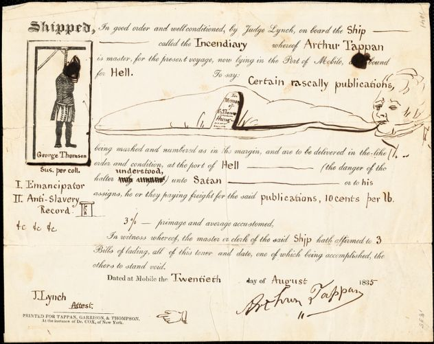 Letter from Arthur Tappan, [New York], to George Thompson, 1835 August 20