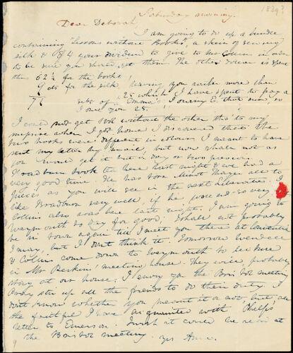 Letter from Anne Warren Weston to Deborah Weston, [1839]