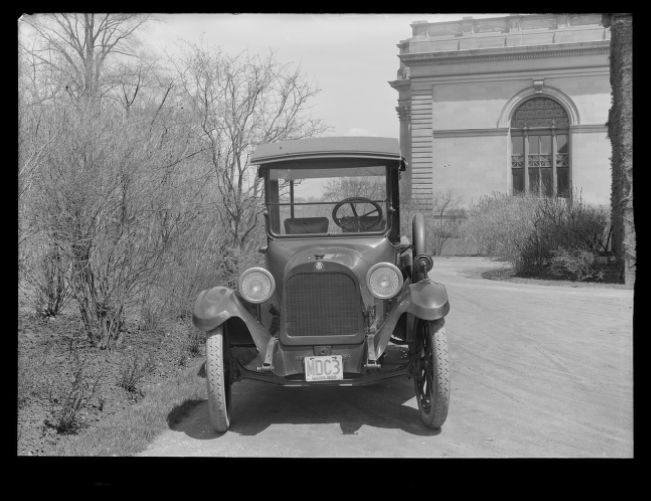 Distribution Department, MWW No. 3, truck; Dodge Bros.; front view; at Chestnut Hill Pumping Stations, Brighton, Mass., May 5, 1920