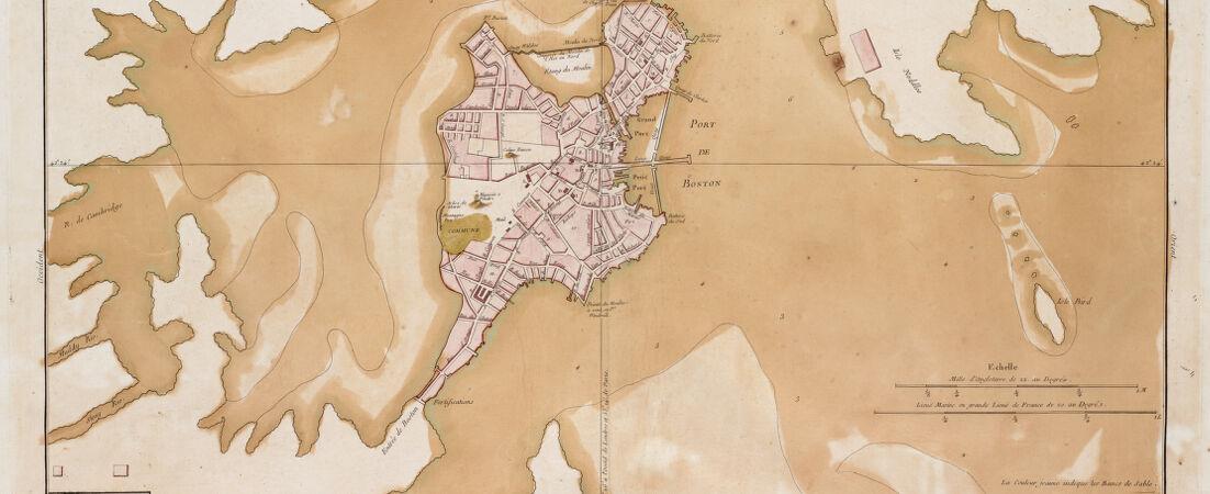 Plan de la ville et du port de Boston