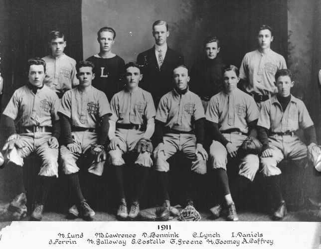 1911 Lawrence High School baseball team