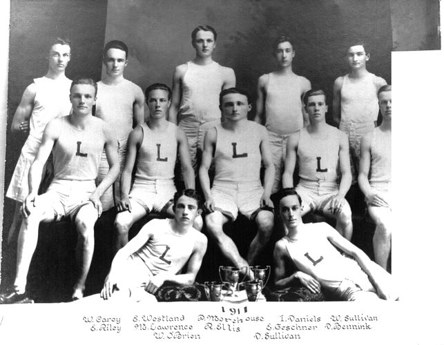 1911 Lawrence High School track team