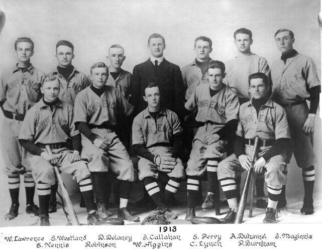 1913 Lawrence High School baseball team