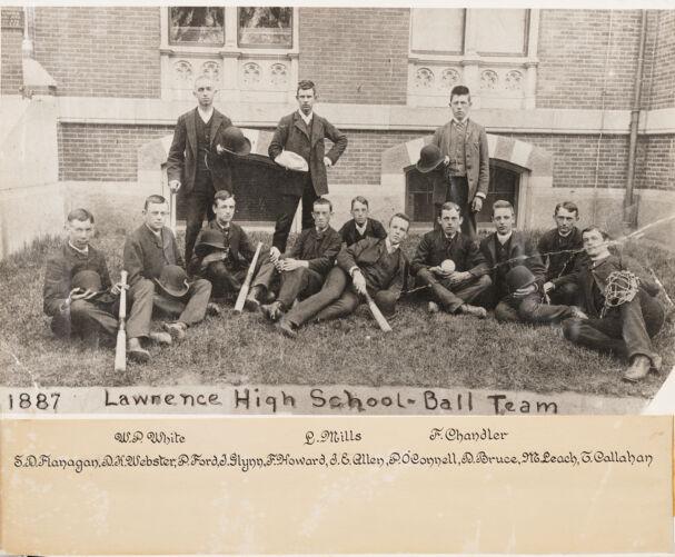 1887 Lawrence High School ball team