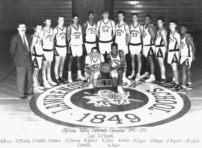 1990-91 Lawrence High School basketball team
