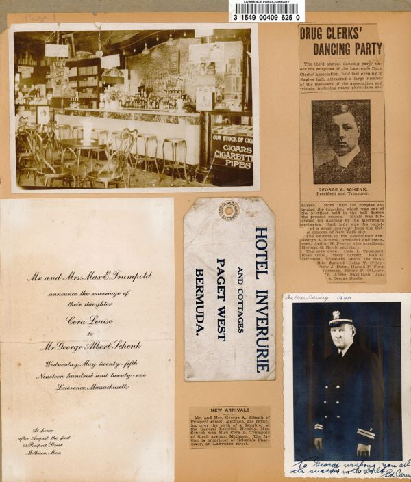 Schenk family scrapbook pages