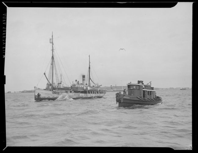 Tug Irving F. Ross and boat Norge