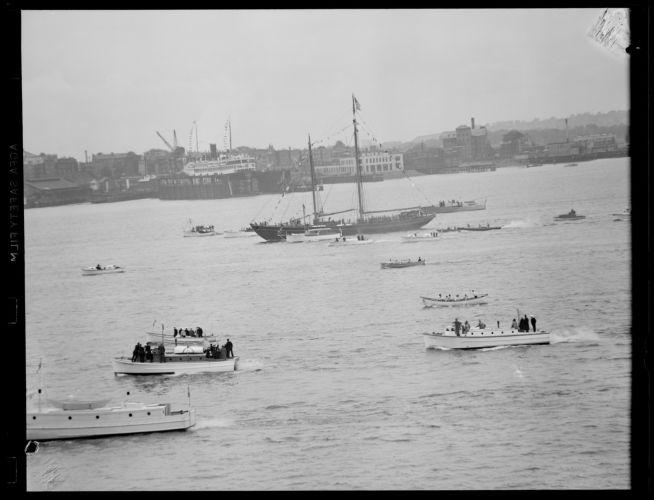 Assortment of vessels in Boston Harbor