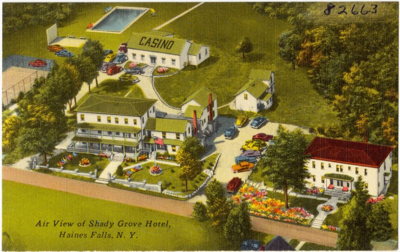 Air view of Shady Grove Hotel, Haines Falls, N. Y.