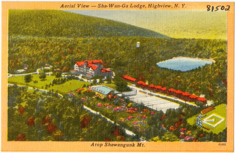 Aerial view -- Sha-Wan-Ga Lodge, Highview, N. Y. Atop Shawagunk Mt.
