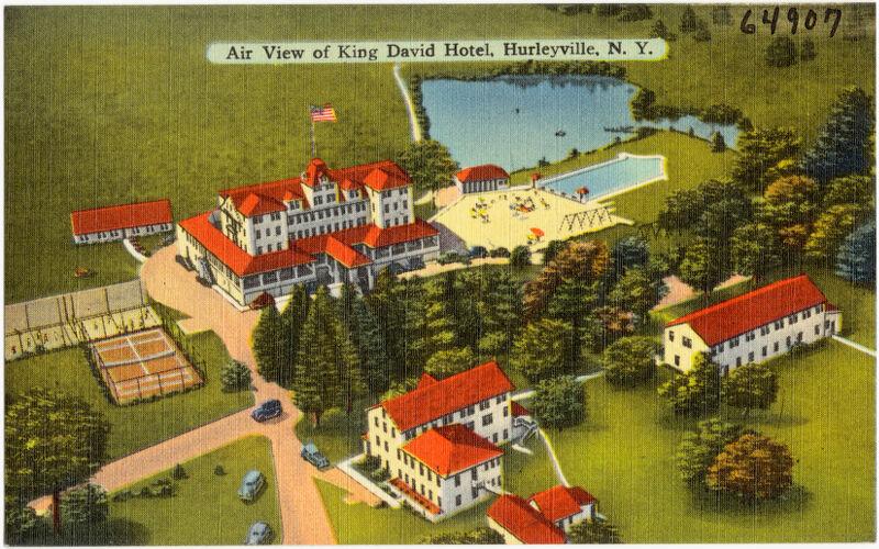 Air view of King David Hotel, Hurleyville, N. Y.
