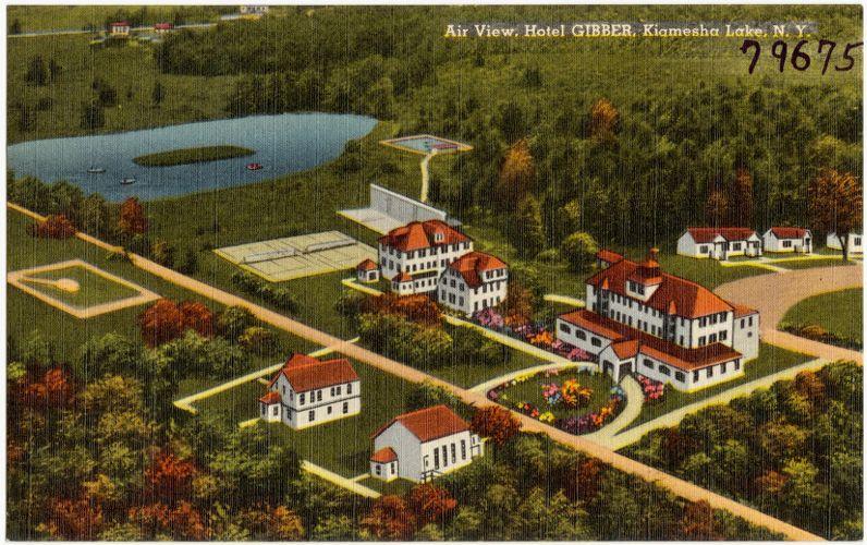 Air view, Hotel Gibber, Kiamesha Lake, N. Y.