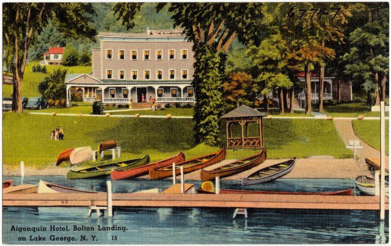Algonquin Hotel, Bolton Landing, on Lake George, N. Y.