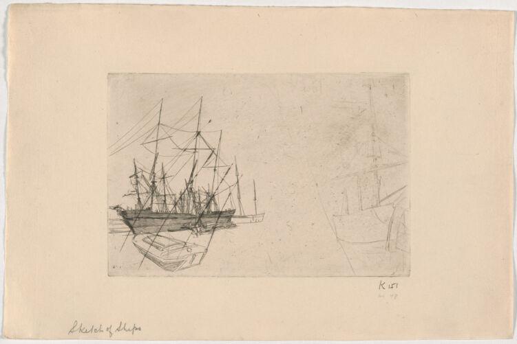 Sketch of ships