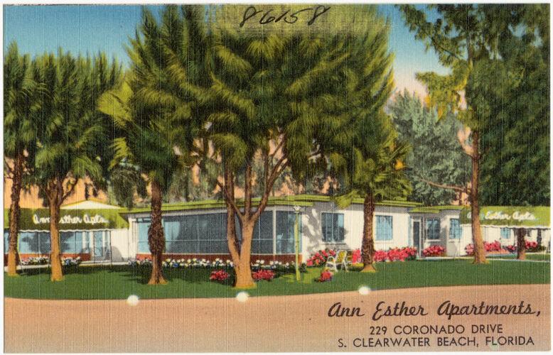Ann Esther Apartments, 229 Coronado Drive, S. Clearwater Beach, Florida