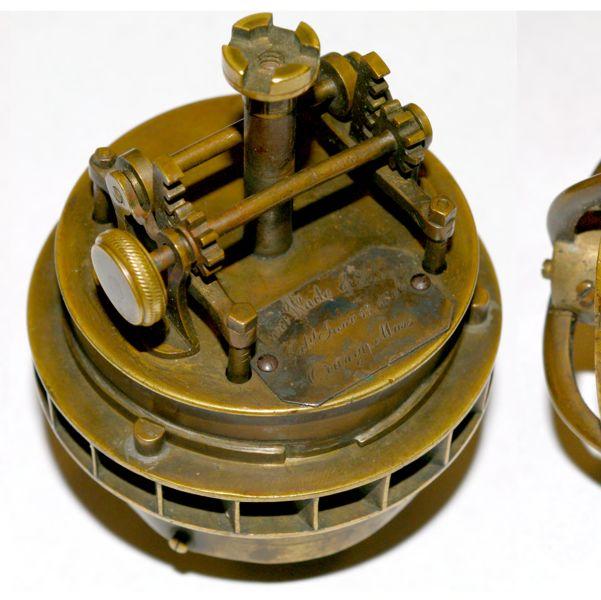 Brass water turbine model