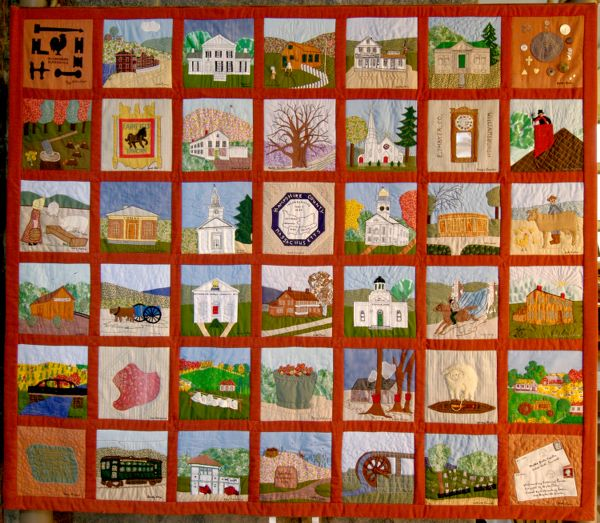 Williamsburg, Mass. Bicentennial Commemorative Quilt