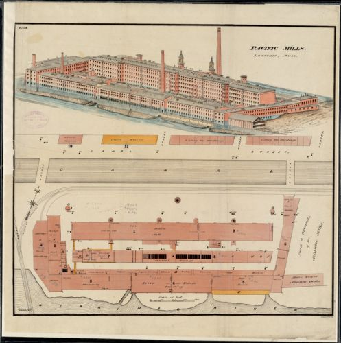 Pacific Mills, Lawrence, Mass. [insurance map]