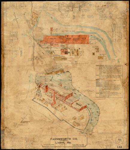 Farnsworth Co. (Woolen Mill), Lisbon, Me. [insurance map]