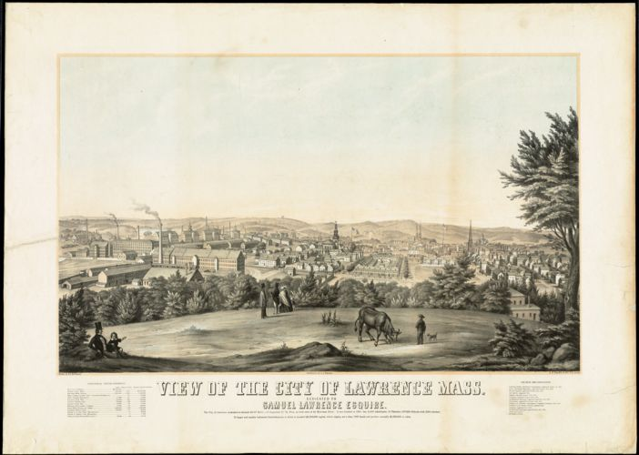 View of the city of Lawrence Dedicated to Samuel Lawrence Esquire.