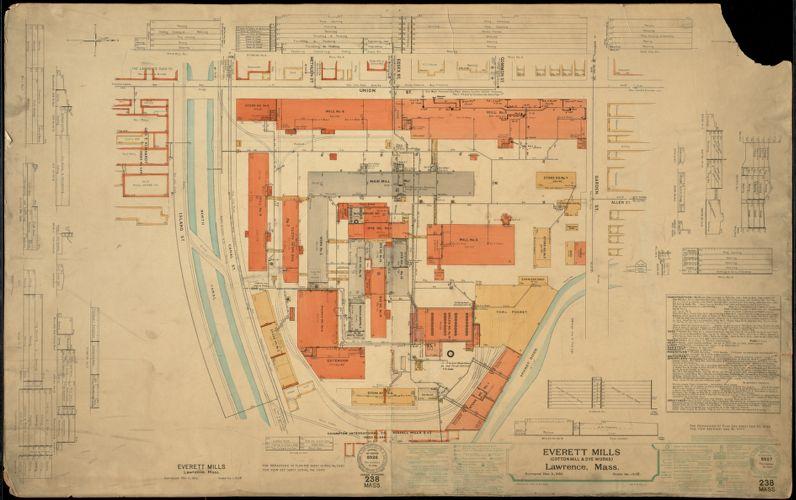 Everett Mills (Cotton Mill & Dye Works), Lawrence, Mass. [insurance map]
