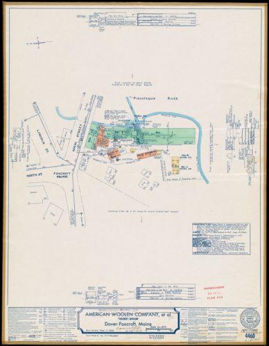 "American Woolen Company et al, ""Foxcroft Division,"" Dover-Foxcroft, Maine [insurance map]"