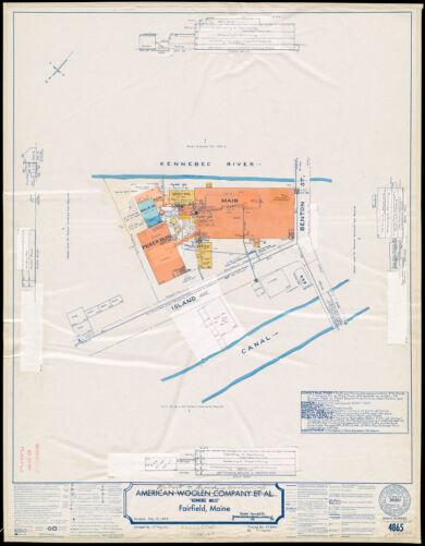 "American Woolen Company et al, ""Kennebec Mills,"" Fairfield, Maine [insurance map]"