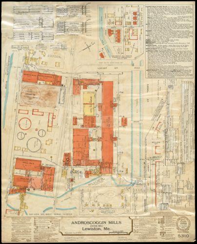 Androscoggin Mills (Cotton Mill), Lewiston, Me. [insurance map]