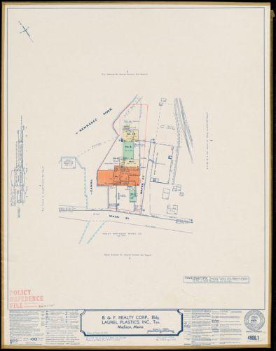 B. & F. Realty Corp., Bldg.; Laurel Plastics, Inc., Ten., Madison, Maine [insurance map]