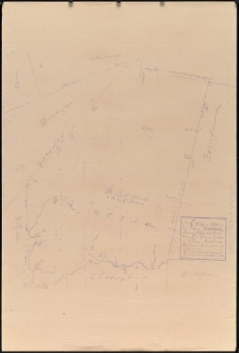 A map or plot of the town of Wrentham showing ye figure and bounds thereof