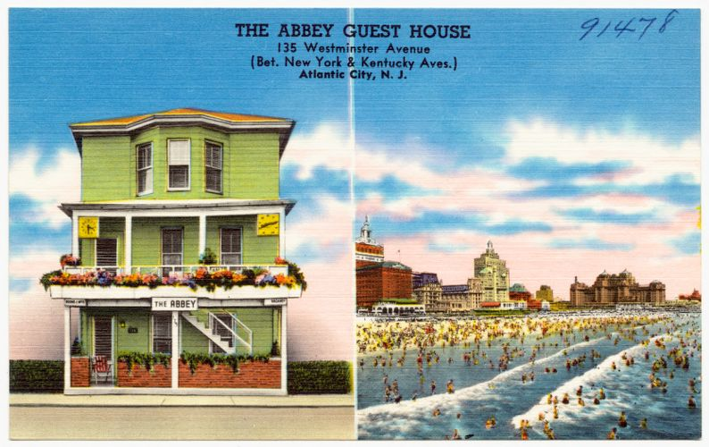 The Abbey Guest House, 135 Westminster Avenue (bet. New York & Kentucky Aves.) Atlantic City, N. J.