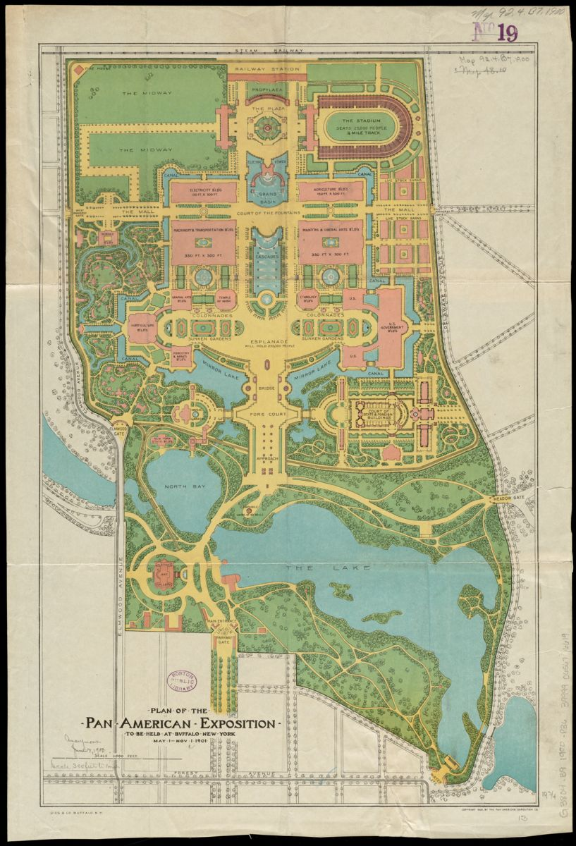 Gies & Co., Plan of the Pan-American Exposition… (1900)