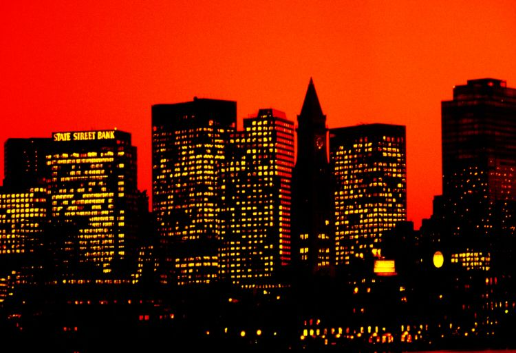 Customs House & skyline from East Boston, Boston
