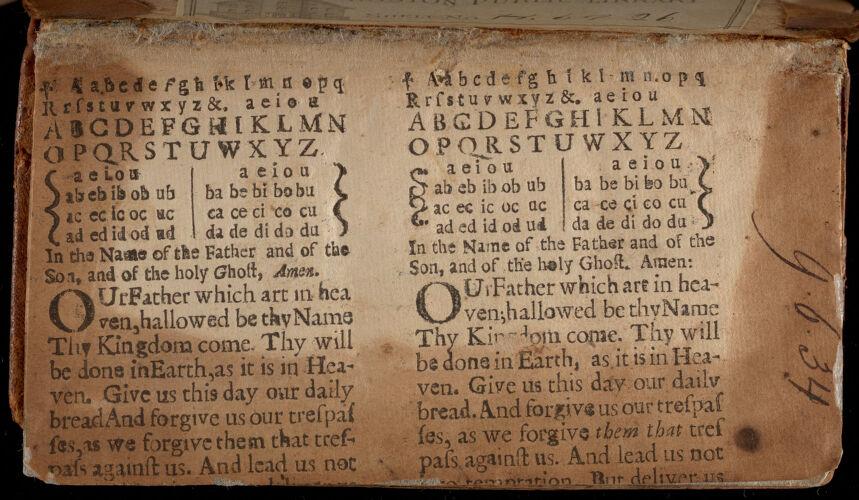 Eight settings of a hornbook text