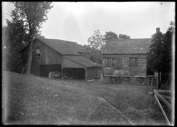 Alvah Colton barn & shop east of house