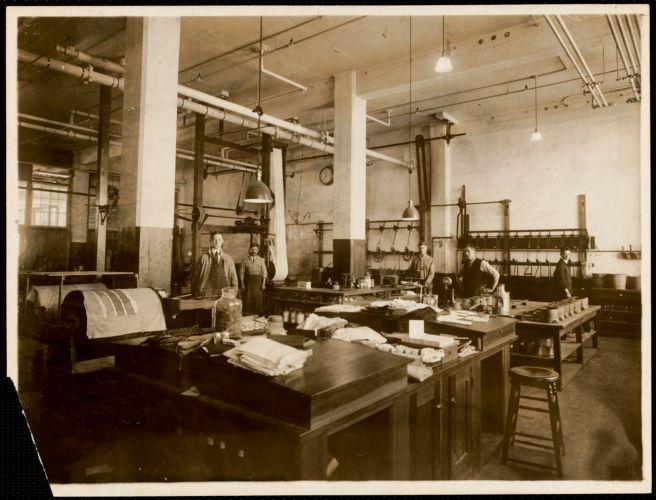 Chemical laboratory, print building