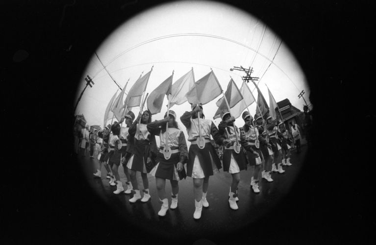 4th of July parade (fisheye lens), Lawrence