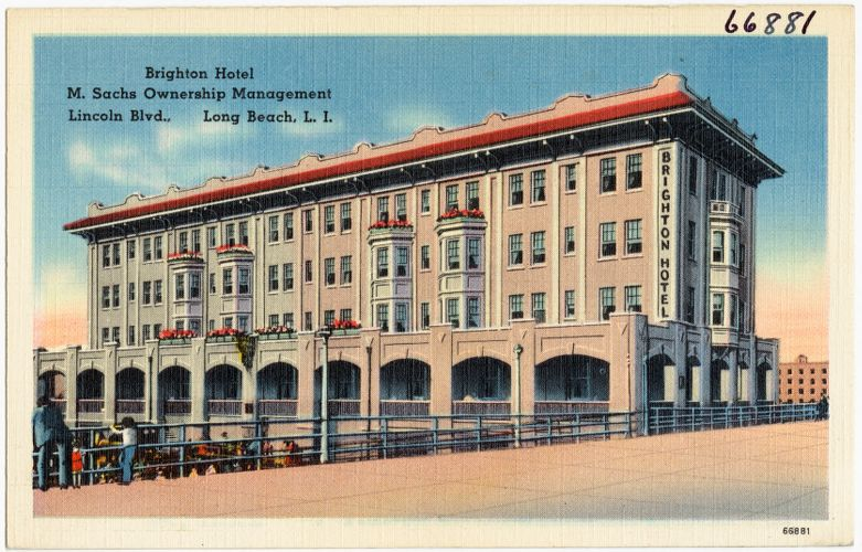 Brighton Hotel, M. Sachs ownership management, Lincoln Blvd., Long Beach, L. I.