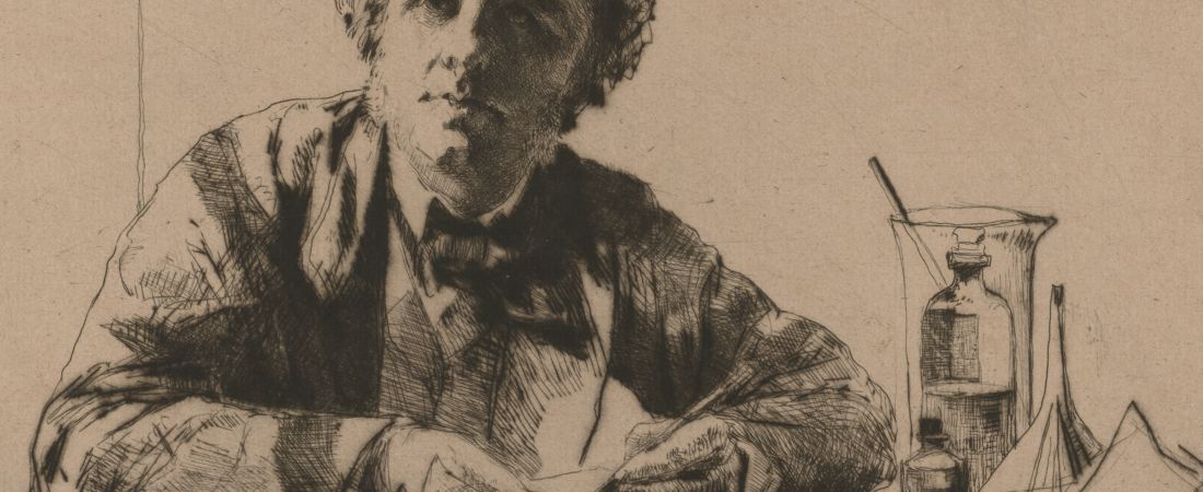 Portrait of Francis Seymour Haden, no. II (while etching)
