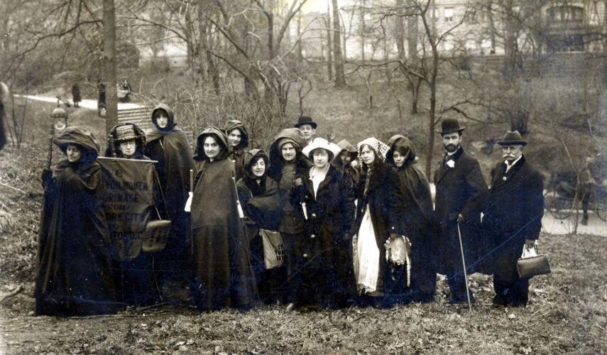 Women's Suffrage Hikers c.1912-1914