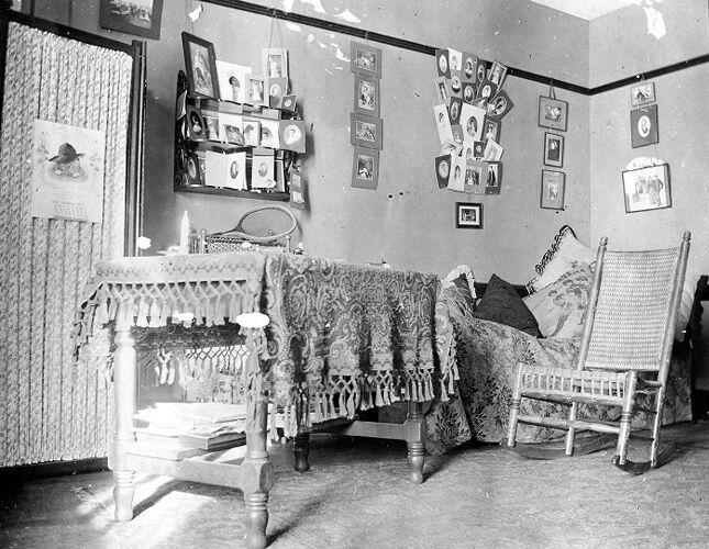 Edith Hyde Fay's Dormitory room c. 1901-1905