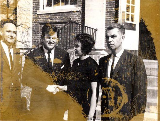 Senator Edward Kennedy visited Framingham in 1963