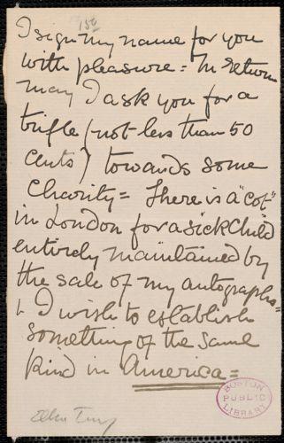 Dame Ellen Terry note