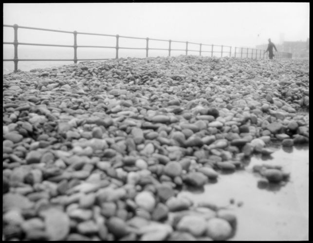 """Winthrop, """"Storm throws rocks up on Winthrop Drive"""" (Shore)"""