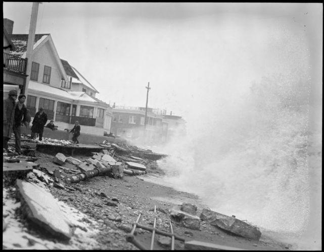 Winthrop Beach during Northeast storm
