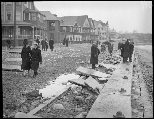 Shore Drive destroyed by storm