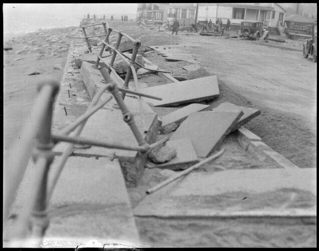 Surf, Winthrop, damaged railing, etc.