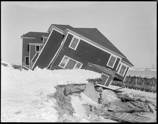House in New Hampshire damaged by storm