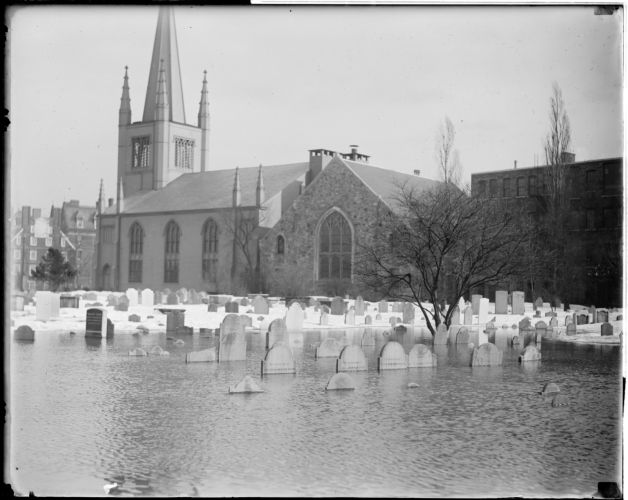 Cemetery under water - Cambridge